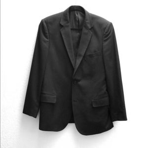 ADOLFO Men's Suit - BLACK PINSTRIPE